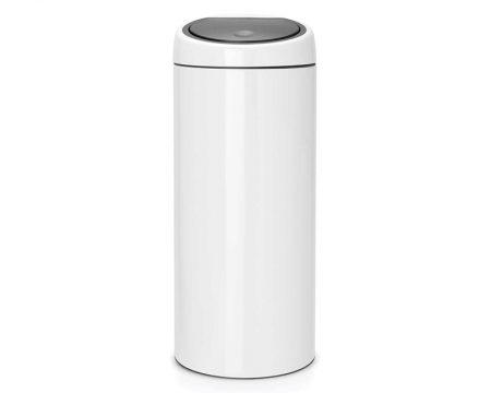פח טאץ ברבנטיה 30 ליטר לבן