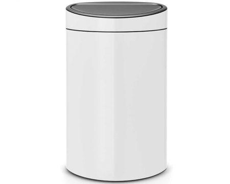 פח טאץ ברבנטיה 40 ליטר לבן