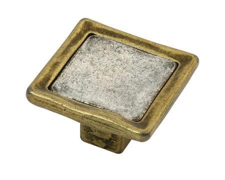 כפתור PO-188 ברונזה + כסף עתיק